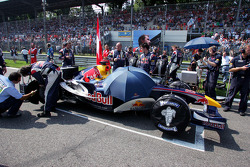 Coche de Red Bull Racing en la parrilla de salida