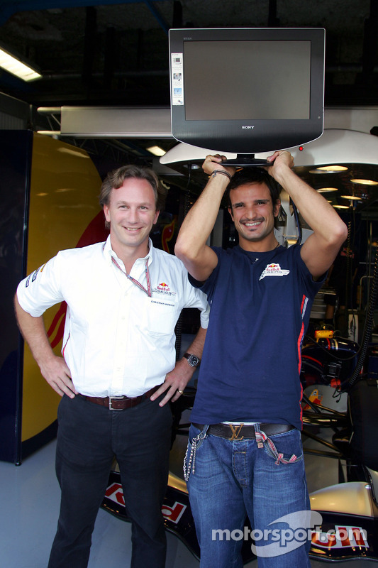 Christian Horner and Vitantonio Liuzzi