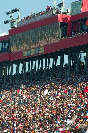 A sample of the huge NASCAR crowd