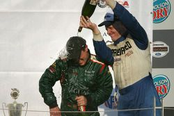 Podium: champagne for Klaus Graf and Randy Ruhlman