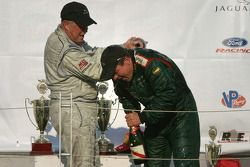 Podium: champagne for Greg Pickett and Klaus Graf