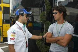 Felipe Massa y Alexandre Negrao