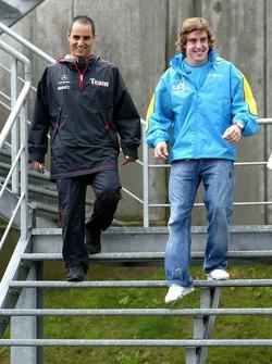 Juan Pablo Montoya y Fernando Alonso