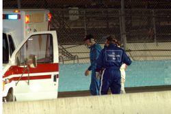 No. 8 driver led to medical vehicle