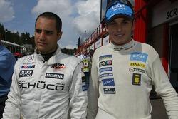 Juan Pablo Montoya y Giancarlo Fisichella
