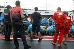 Entraînement aux arrêts au stand chez Renault F1