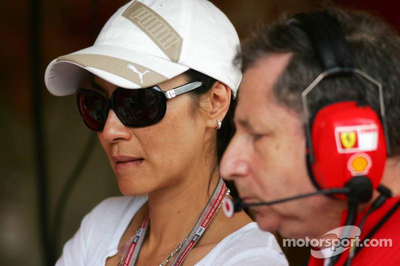Jean Todt con su novia Michelle Yeoh
