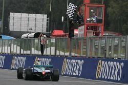Nelson A. Piquet takes the checkered flag