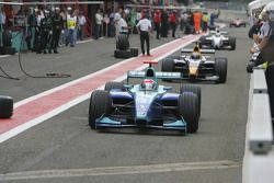 Nelson A. Piquet enters the pitlane