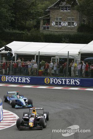 Heikki Kovalainen and Nelson A. Piquet