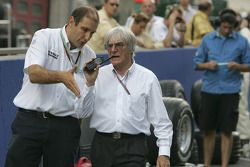 Bernie Ecclestone and Bruno Michel