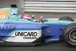 Race winner Nelson A. Piquet celebrates