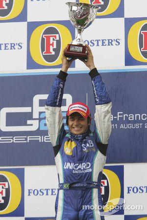 Podium: race winner Nelson A. Piquet