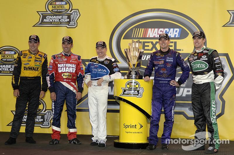 Chase-Teilnehmer 2005 von Roush Racing: Matt Kenseth, Greg Biffle, Mark Martin, Kurt Busch, Carl Edw