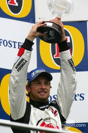 Jenson Button sur le podium