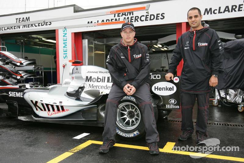 McLaren announces news sponsorship deal ve Hilton: Kimi Raikkonen ve Juan Pablo Montoya