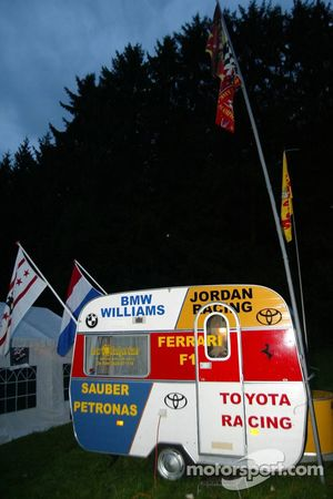 Fans camp at Spa