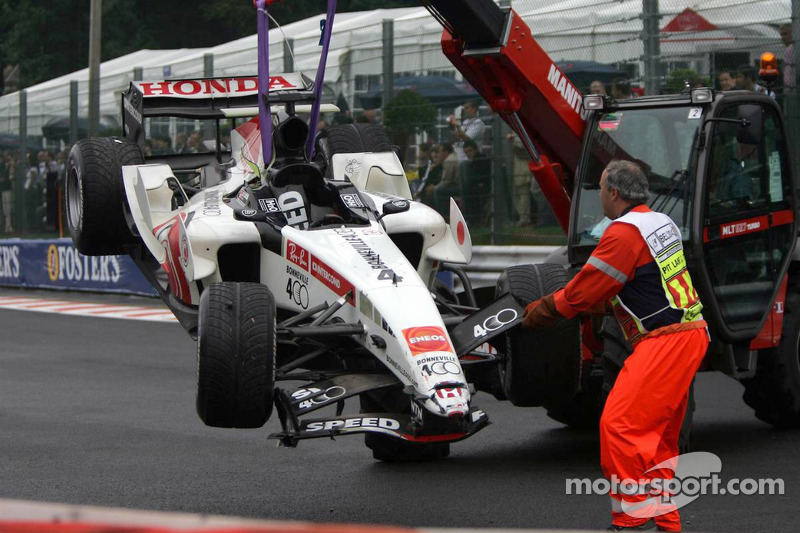 Wrecked Car, Takuma Sato