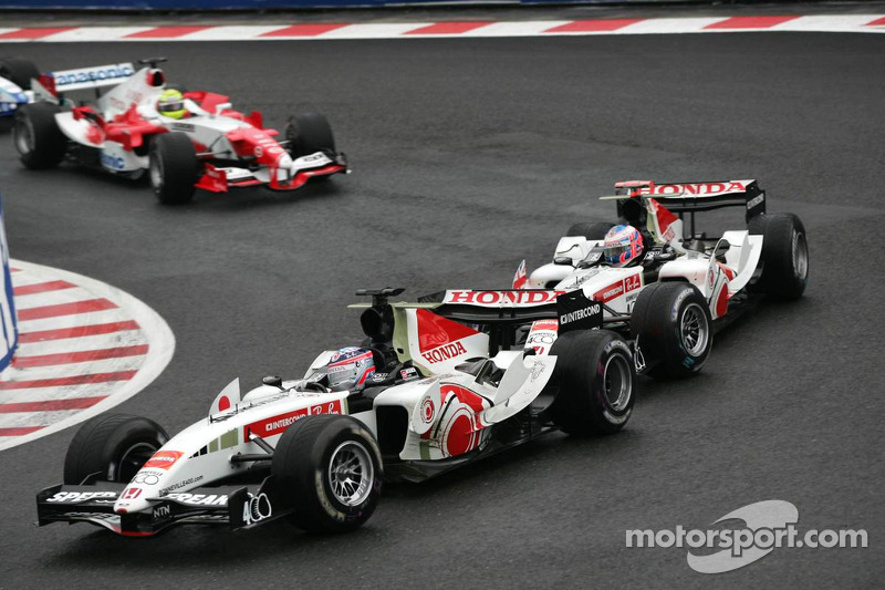 Takuma Sato ve Jenson Button