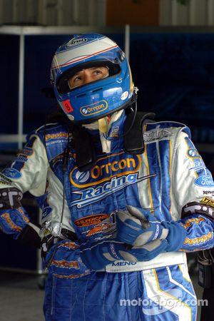 International driver Alain Menu monitors the times