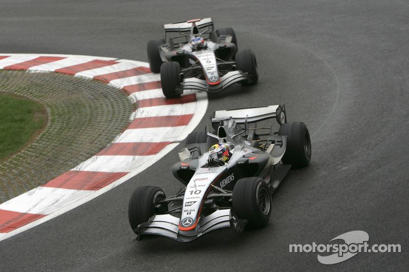 Juan Pablo Montoya y Kimi Raikkonen