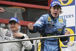 Podium: Fernando Alonso and Kimi Raikkonen
