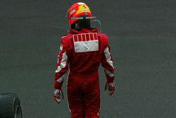 Michael Schumacher walks away