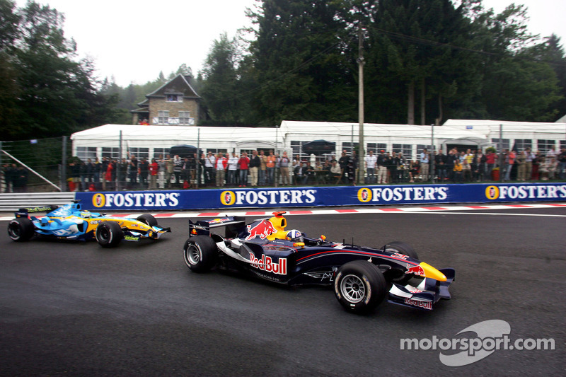 David Coulthard y Giancarlo Fisichella