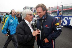 Bernie Ecclestone and Christian Horner