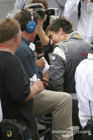 Interviews for race winner Antoine Bessette