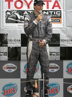 Podium: race winner Antoine Bessette