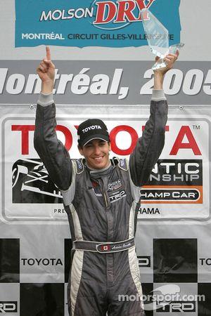Podium: race winner Antoine Bessette