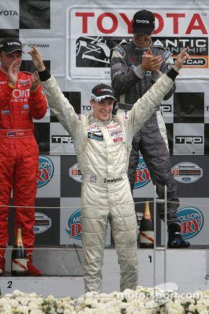 Podium: 2005 Atlantic Series champion Charles Zwolsman celebrates