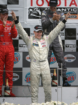 Podium: 2005 Atlantic Series champion Charles Zwolsman celebrates