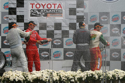 Podium: champagne for Antoine Bessette, Tonis Kasemets, David Martinez and Daryl Leiski