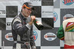 Podium: champagne for Antoine Bessette