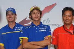 Yamaha press conference: Colin Edwards and Valentino Rossi