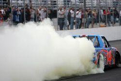 Race winner Rick Crawford celebrates