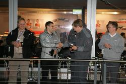 Gary Paffett and Mattias Ekström with friends