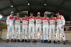 Photoshoot with the 8 Audi works drivers