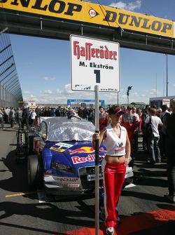 The Audi of Mattias Ekström on the starting grid
