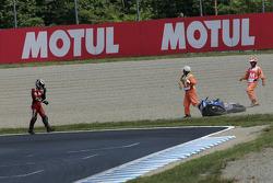 Franco Battaini accidente