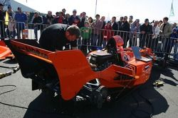 Mechanics prepare the A1GP cars