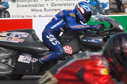 Chip Ellis held the lead for the pole in Pro Stock Bike