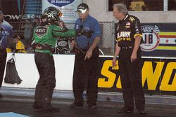 Ron Capps disputes a call that kept him from running in the second qualifying session