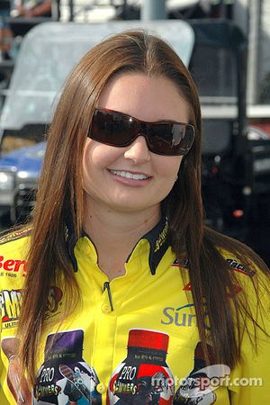 Erica Enders became the first woman driver to go beyond the first round in Pro Stock