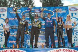 The Pro category winners (L-R Schumacher, Pedregon, Anderson, Angelle Savoie)