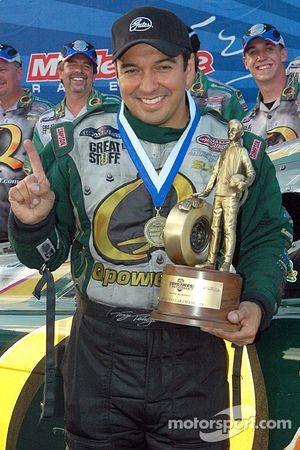 This is the first race Tony Pedregon has won since leaving John Force's racing team