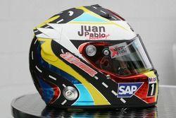 New, kask design for Juan Pablo Montoya