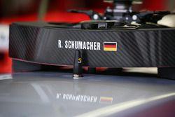 Steering wheel of Ralf Schumacher